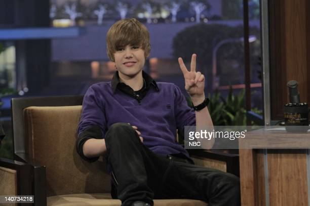 Musical guest Justin Bieber during an interview on April 1 2010 Photo by Stacie McChesney/NBCU Photo Bank
