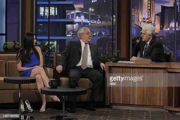 Actress Demi Moore Congressman Barney Frank during an interview with host Jay Leno on April 8 2010 Photo by Stacie McChesney/NBCU Photo Bank