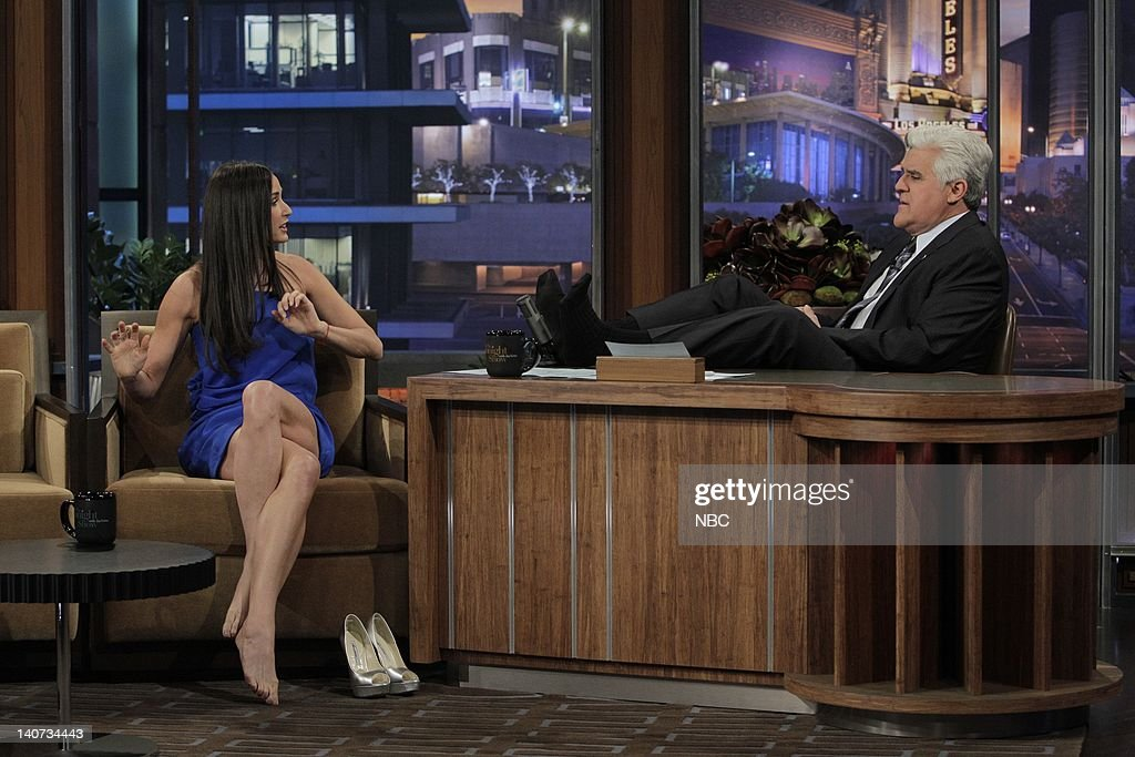 Actress Demi Moore during an interview with host Jay Leno ...