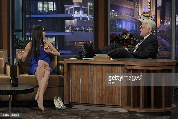 Actress Demi Moore during an interview with host Jay Leno on April 8 2010 Photo by Stacie McChesney/NBCU Photo Bank