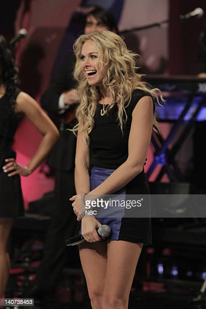 Musical guest Laura Bell Bundy performs on April 29 2010 Photo by Paul Drinkwater/NBCU Photo Bank