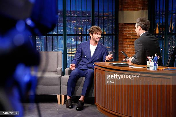 Actor Michiel Huisman during an interview with host Seth Meyers on June 14 2016