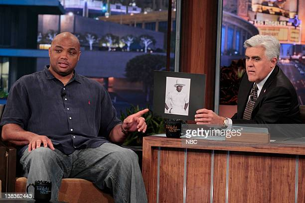 NBA basketball analyst Charles Barkley during an interview with host Jay Leno on May 18 2010