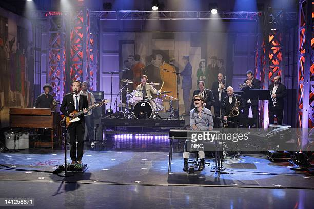 Isaac Hanson Zac Hanson Taylor Hanson Musical guest Hanson perform on May 26 2010 Photo by Paul Drinkwater/NBCU Photo Bank