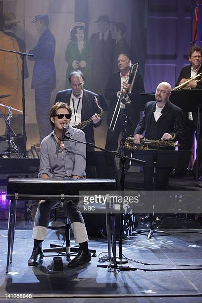 Taylor Hanson Musical guest Hanson perform on May 26 2010 Photo by Paul Drinkwater/NBCU Photo Bank