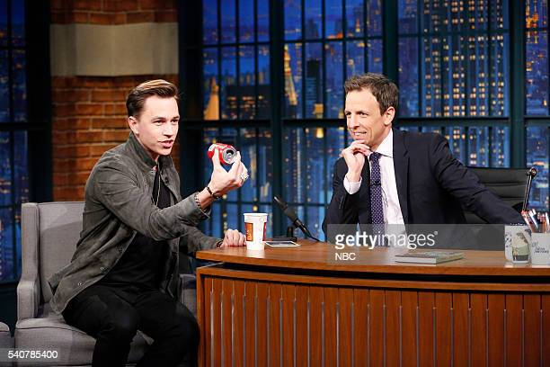 Magician Justin Flom during an interview with host Seth Meyers on June 16 2016