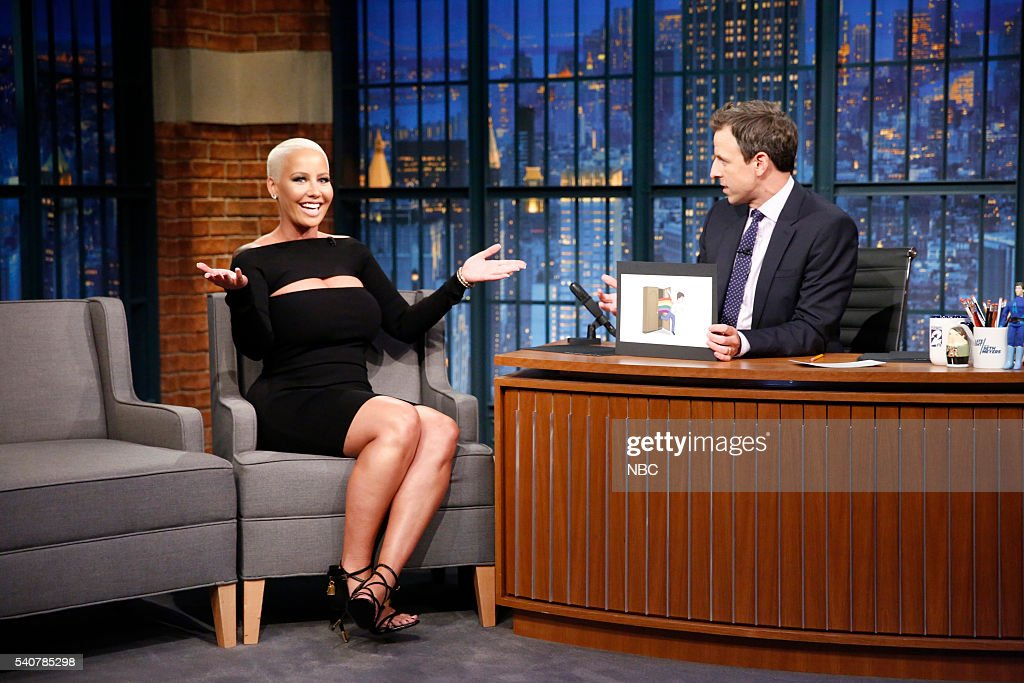 Model/fashion designer Amber Rose during an interview with host Seth Meyers on June 16, 2016 --