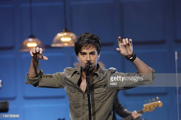 Musical guest Enrique Iglesias performs on July 6 2010 Photo by Stacie McChesney/NBCU Photo Bank