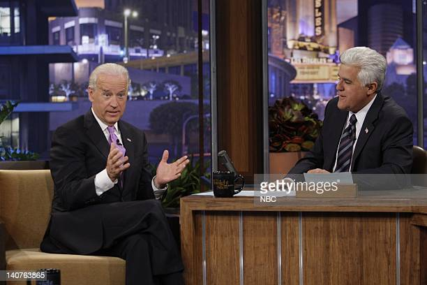 Episode 3857 -- Pictured: Vice President of the United States Joe Biden during an interview with host Jay Leno on July 9, 2010 -- Photo by: Stacie...