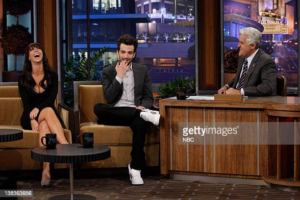 Actress Jennifer Love Hewitt actor Jay Baruchel during an interview with host Jay Leno on July 13 2010