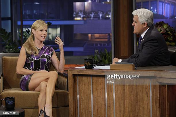 Actress Julie Bowen during an interview with host Jay Leno on September 15 2010 Photo by Paul Drinkwater/NBC/NBCU Photo Bank