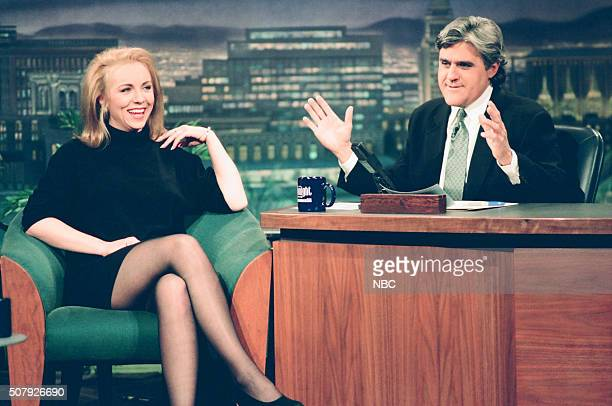 Actress Brett Butler during an interview with host Jay Leno on February 1 1994