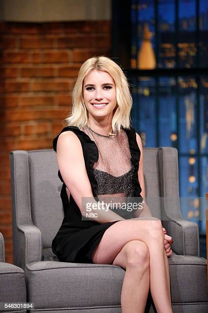 Actress Emma Roberts during an interview on July 11 2016