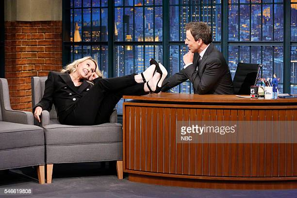 Actress Kate McKinnon during an interview with host Seth Meyers on July 12 2016