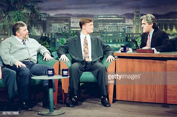 Coach Tim Nolan and athlete Jason Holt during an interview with host Jay Leno on February 3 1994