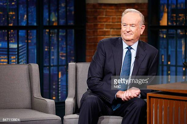 Political commentator Bill O'Reilly during an interview on July 13 2016