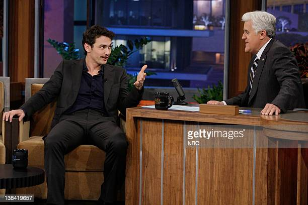Actor James Franco during an interview with host Jay Leno on November 3 2010