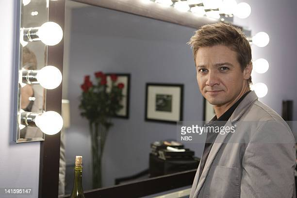 LENO Episode 3938 Pictured Actor Jermey Renner backstage on November 24 2010 Photo by Paul Drinkwater/NBC/NBCU Photo Bank
