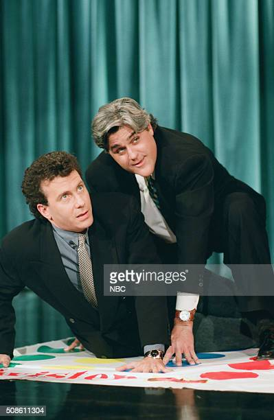 Actor Paul Reiser during an interview with host Jay Leno on February 8 1994