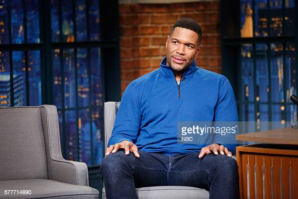Talk show host Michael Strahan during an interview on July 19 2016