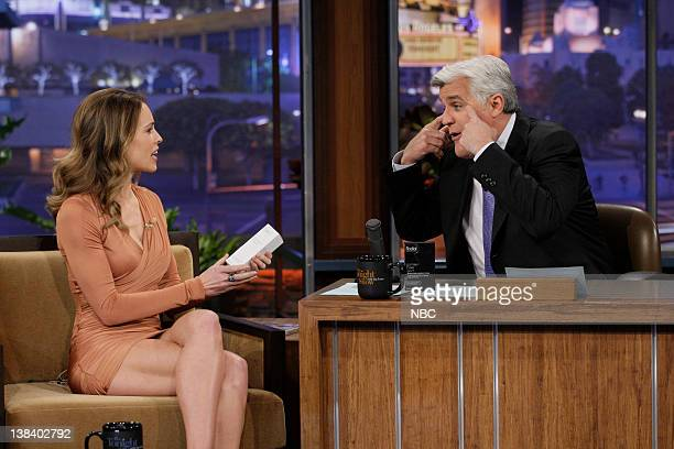 Actress Hilary Swank during an interview with host Jay Leno on January 6 2011