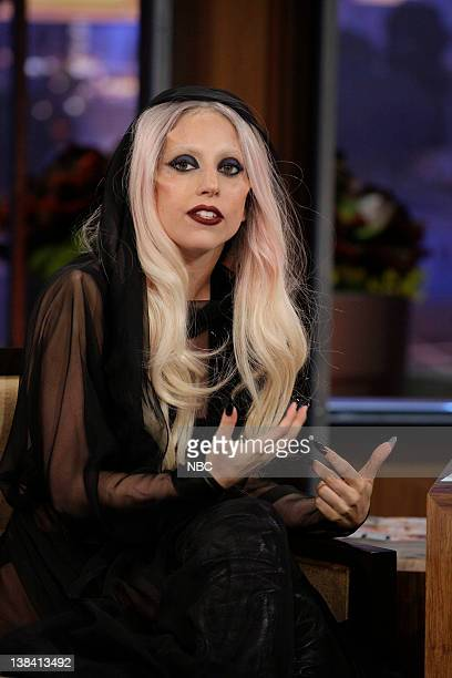 Episode 3989 -- Pictured: Singer Lady Gaga during an interview on February 14, 2011
