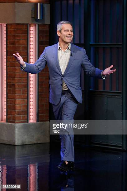 "Andy Cohen ""Watch What Happens Live"" host arrives on July 26 2016"