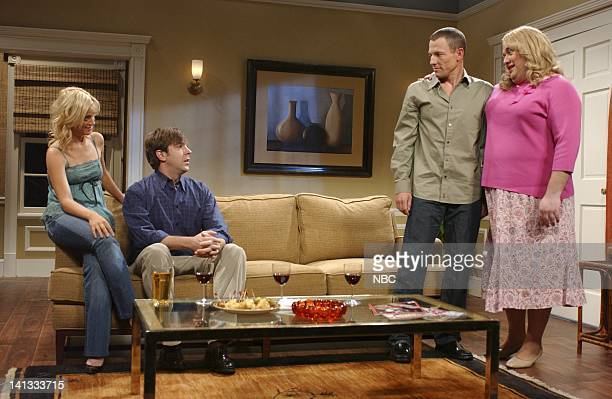 LIVE Episode 4 Air Date Pictured Amy Poehler as Amanda Jason Sudeikis as Jim Lance Armstrong as Dylan Horatio Sanz as Carol during Carol skit Photo...