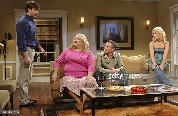 LIVE Episode 4 Air Date Pictured Jason Sudeikis as Jim Horatio Sanz as Carol Lance Armstrong as Dylan Amy Peohler as Amanda during Carol skit Photo...