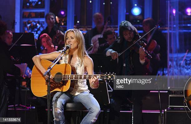 Episode 4 -- Air Date -- Pictured: Musical guest Sheryl Crow performs -- Photo by: Dana Edelson/NBCU Photo Bank