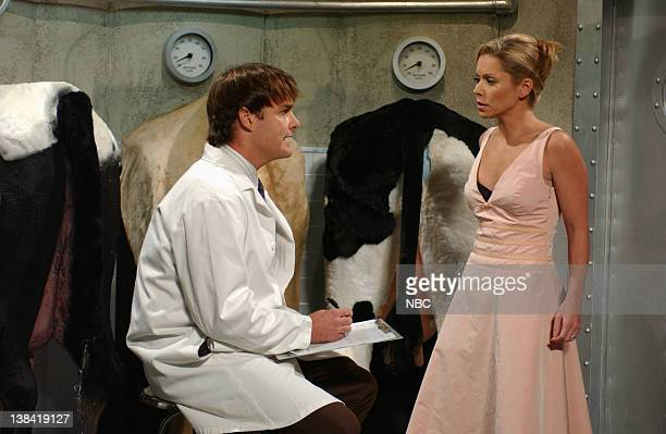 LIVE Episode 4 Air Date Pictured Will Forte as Carl Kelly Ripa as Debbie during the Cow Fart Study skit on November 1 2008