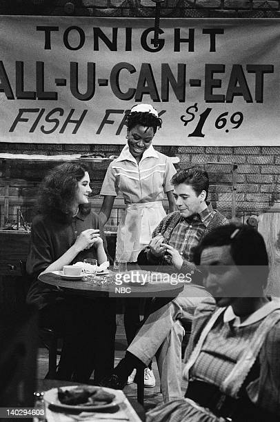 LIVE Episode 4 Air Date Pictured Joan Cusack as patron Danitra Vance as waitress Robert Downey Jr as patron Nora Dunn as patron during The Limits Of...