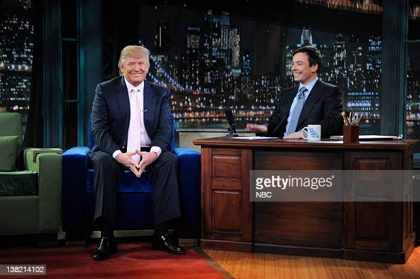 FALLON Episode 4 Airdate Pictured Donald Trump during an interview with Jimmy Fallon on March 5 2009