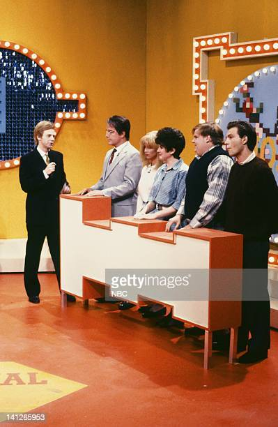 Episode 4 -- Pictured: Dana Carvey as Ray Combs, Phil Hartman as William Thorton, Victoria Jackson as Bethany Thorton, Julia Sweeney as Rebecca...