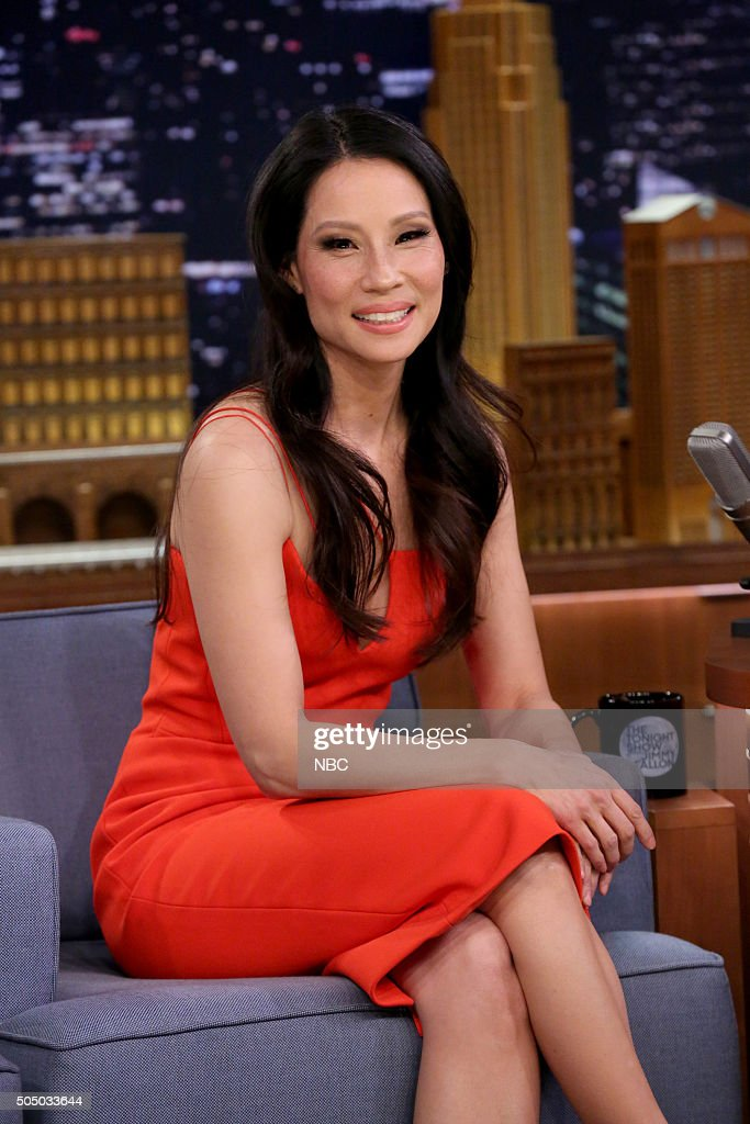 Actress Lucy Liu during an interview on January 14, 2016 --