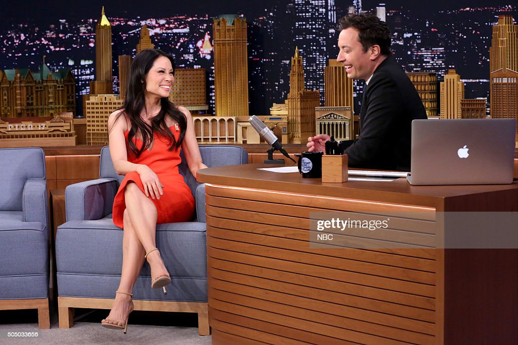 Actress Lucy Liu during an interview with host Jimmy Fallon on January 14, 2016 --