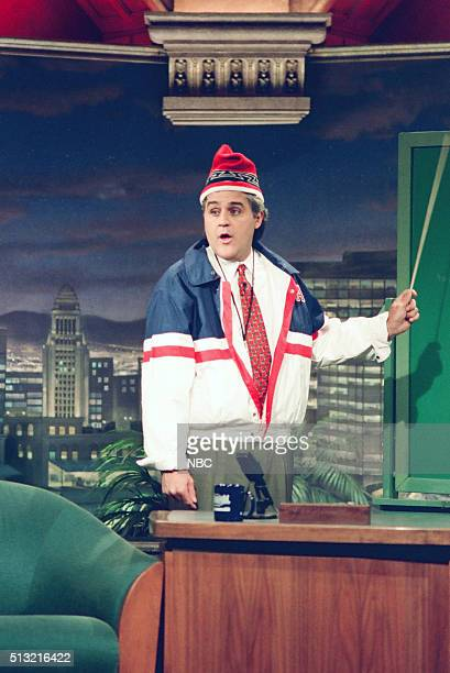 Episode 400 -- Pictured: Host Jay Leno during a sketch on February 15, 1994 --