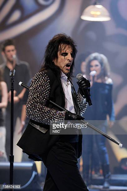 Musical guest Alice Cooper performs on March 18 2011