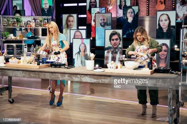 Episode 4007 -- Pictured: Paris Hilton, Kelly Clarkson --