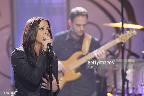 Musical guest Sara Evans performs on April 12 2011 Photo by Paul Drinkwater/NBC/NBCU Photo Bank