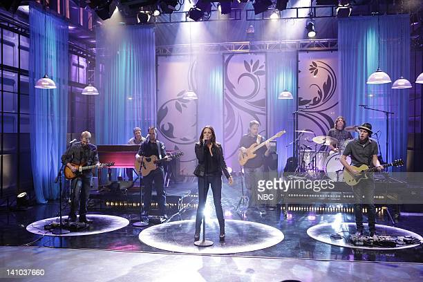Episode 4024 -- Pictured: Musical guest Sara Evans performs on April 12, 2011 -- Photo by: Paul Drinkwater/NBC/NBCU Photo Bank