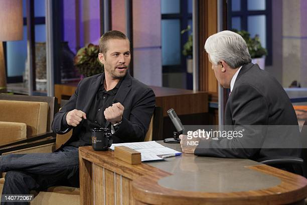 Actor Paul Walker during an interview with Jay Leno on May 2 2011 Photo by Paul Drinkwater/NBC/NBCU Photo Bank