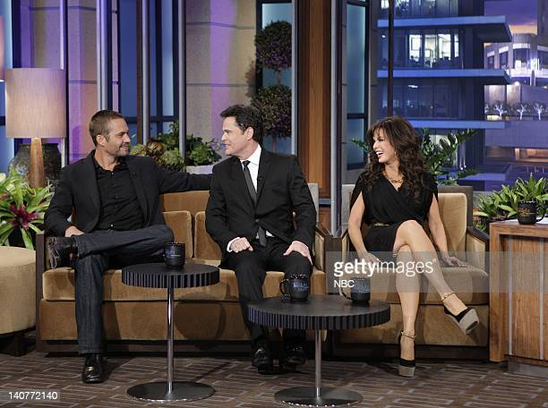 Actor Paul Walker Musicians Donny and Marie Osmond during an interview on May 2 2011 Photo by Paul Drinkwater/NBC/NBCU Photo Bank