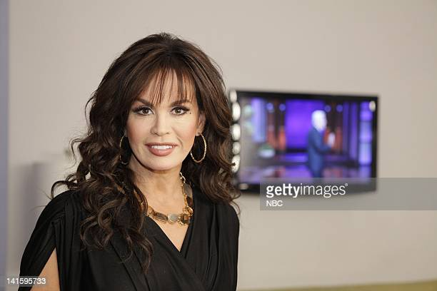 LENO Episode 4033 Pictured Musician Marie Osmond backstage in the green room before the show on May 2 2011 Photo by Paul Drinkwater/NBC/NBCU Photo...