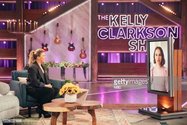Episode 4034 -- Pictured: Kelly Clarkson, Natalie Portman --