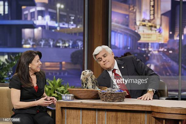 Animal expert Julie Scardina during an interview with host Jay Leno on May 10 2011 Photo by Paul Drinkwater/NBC/NBCU Photo Bank