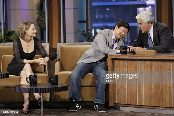 Actress/director Jodie Foster actor Ken Jeong during an interview with host Jay Leno on May 13 2011 Photo by Stacie McChesney/NBC/NBCU Photo Bank