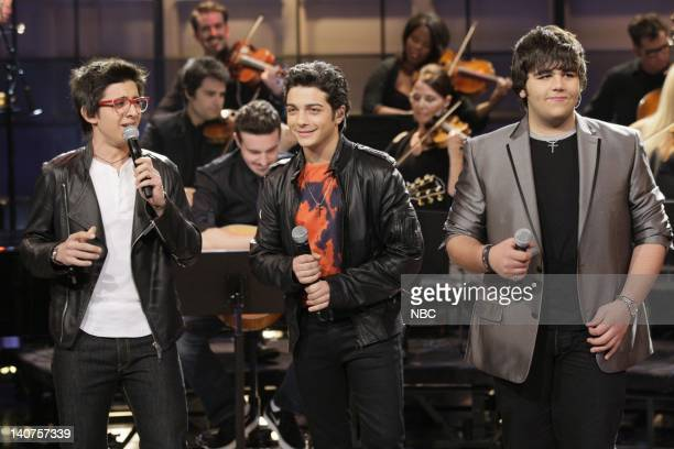 Musical guest Il Volo performs on May 20 2011 Photo by Paul Drinkwater/NBC/NBCU Photo Bank