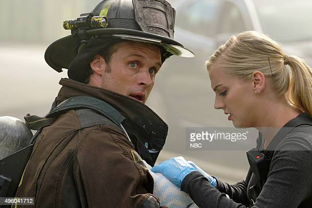 FIRE 2112 Episode 406 Pictured Jesse Spencer as Matthew Casey Kara Killmer as Sylvie Brett