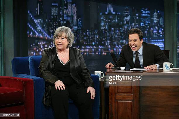 Kathy Bates during an interview with Jimmy Fallon on March 4 2011
